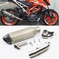Motorcycle For Akrapovic Exhaust Link Pipe Full Systems For KTM DUKE 390 250 DUKE RC 390 RC 125 RC390 DUKE 125 2016 2017 2018