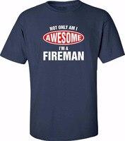 2018 vente Chaude 100% coton Livraison gratuite Marque Vêtements Hommes Imprimé Design De Mode Services Pompier Pompier T-shirt