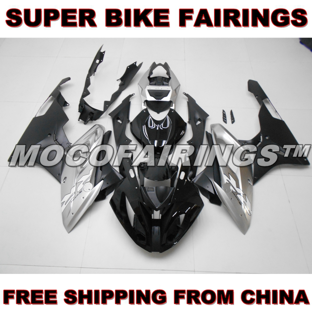 Gloss Grey And Matte Black Color S1000RR 2015 2016 Fairing Kit For BMW S1000 RR Motorcycle Bodywork Injection Mold motorcycle blue bodywork kit fairing for bmw s1000rr s 1000 rr s 1000rr 2015 15 injection mold fairings cowl set uv painted