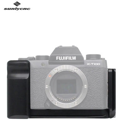 лучшая цена Quick Release L Plate/Bracket Holder hand Grip for Fujifilm Fuji X-T100 Arca-Swiss Standard Mount Plate With 1/4 Thread Holes