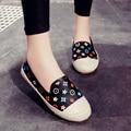 2016 Mujeres Imprimir Slip on Zapatos Mocasines Creepers Alpargatas de Cuero Otoño Primavera Mujer Zapatos Ocasionales de Las Señoras zapatos mujer 2583