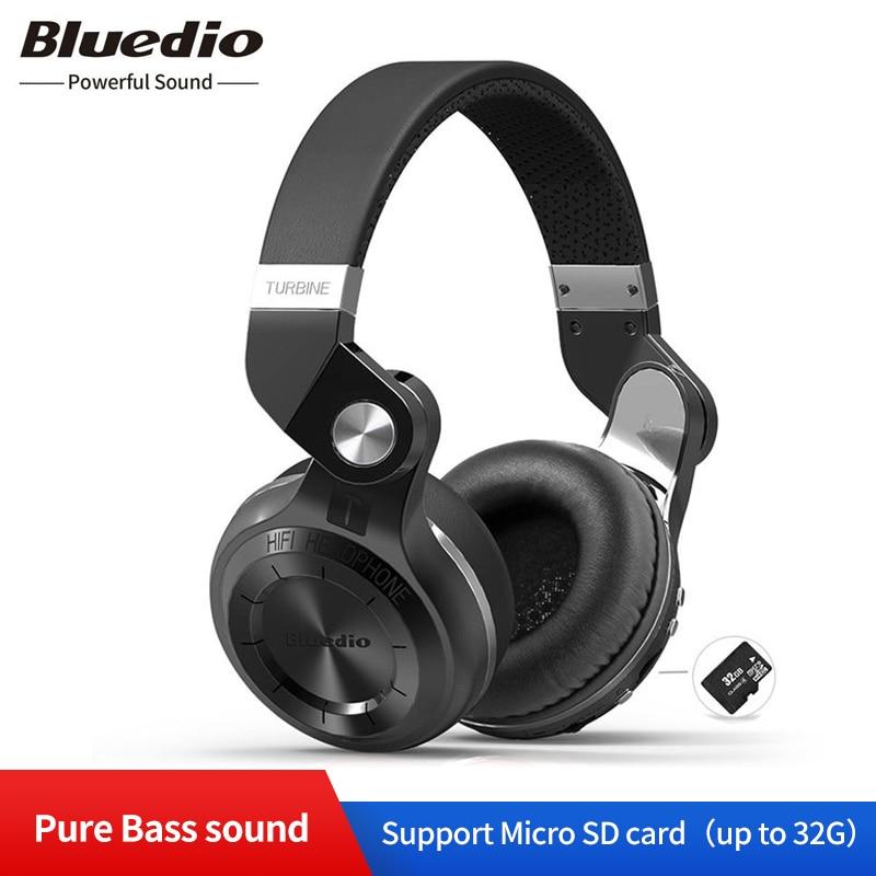 Bluedio T2plus (frein de tir) casque stéréo Bluetooth casque sans fil casque Bluetooth 5.0 casque sur l'oreille casque
