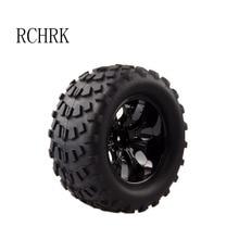 2PCS Rubber Bigfoot Truck Tire Diameter 125mm Width 69mm Suitable for Rc car 1/10 HSP 94111 94188 94108 etc. HPI
