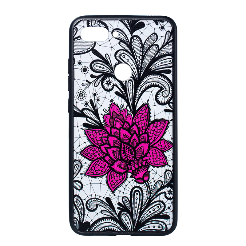 Sexy Floral Phone Case For red mi NOTE5 NOTE5 PRO cover Lace Flower PC Cases Back Cover For xiaomi A1 A2 8SE 8 women coque Capa