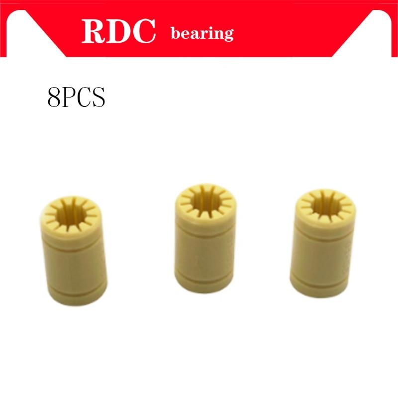 8pcs 3D Printer Solid Plasticr Bearing ID 6/8/10/12mm Shaft Igus Drylin RJMP-01-06 RJMP-01-08 RJMP-01-10 RJMP-01-12