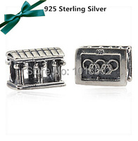 1:1 Legal Copy 925 Sterling Silver Olympic Games Charm Vintage Bead Fits For Bracelet & Necklace 1pc/lot VK2340
