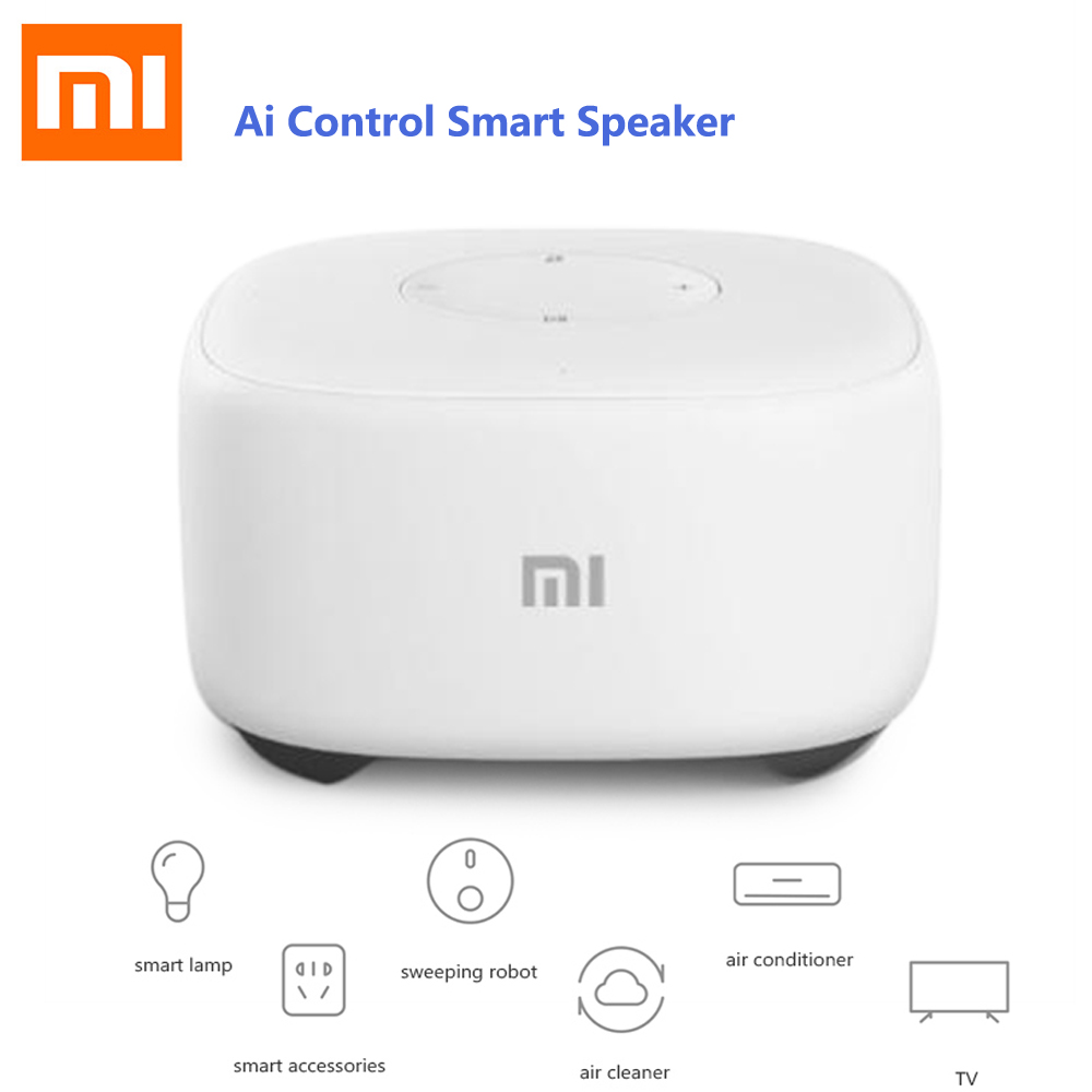 Original Xiaomi Mi Al Artificial Intelligent Mini Speaker Voice Control Smart Speaker Radio Player WiFi Story Teller Fr Kid GIft original xiaomi mi speaker mini 2 4g wifi voice smart speaker wireless portable speaker bluetooth 4 1 with 4 mic of smart home
