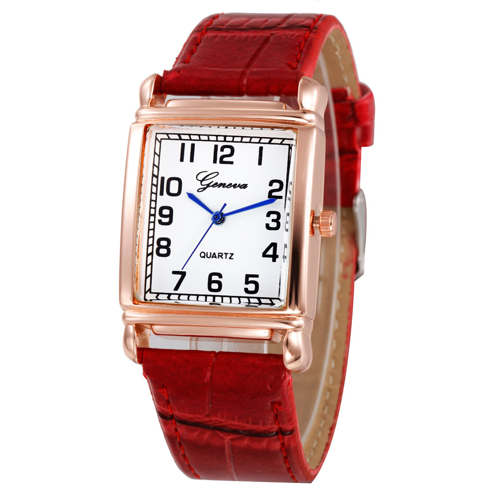 Watches Faux-Leather Women Luxury Fashion Mujer Quartz Hot-Clock Feminino Relojes Gofuly
