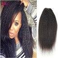 Best 7A Queen Weave Beauty Brazilian Kinky Straight Hair 4 Bundles Coarse Italian Yaki Straight Hair Yaki Human Hair Soft