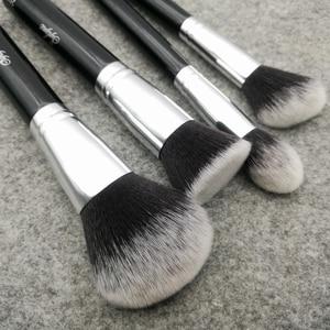 Image 2 - Sylyne makeup brush set 10pcs high quality professional makeup brushes classic black foundation make up brush kit tools.