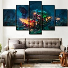 Games Battle Chasers Nightwar Painting Wall Art Canvas Modern Decor 5 Pieces Print Poster HD Printed Living Room