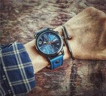 2017 Grand Visage Hommes Montres En Cuir Bande Xfcs Quartz Montre Mens Qualité Horloge Militaire Armée Montre-Bracelet Relojes Hombre Reloges