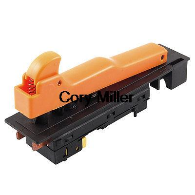 2NO DPST Lock on Power Trigger Switch AC 250V 12A for Makita 180 Angle Grinder ac 250v 6a dpst trigger switch control for makita 5016 electric chain saw