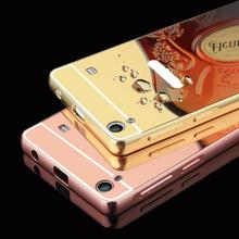 Luxury Gold Plating Aluminum Metal Mirror Case For Lenovo S90 S 90 S90T S60 Phone Case Back For Lenovo A 6000 A6010 Plus K3 case