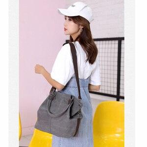 Image 5 - High Quality Canvas Women Handbag Casual Large Capacity Hobos Bag Hot Sell Female Totes Bolsas Trapeze Ruched Solid Shoulder Bag