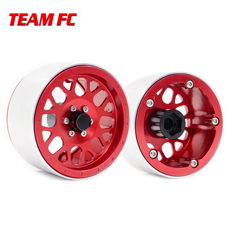 4PCS Free shipping Metal 2 2 Inch Beadlock Wheel Rim for 1 10 RC Crawler Axial