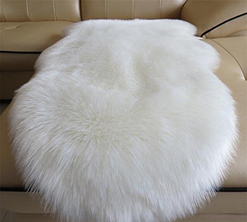 Faux Fur Sheepskin Rug Kids Carpet Soft Faux Sheepskin