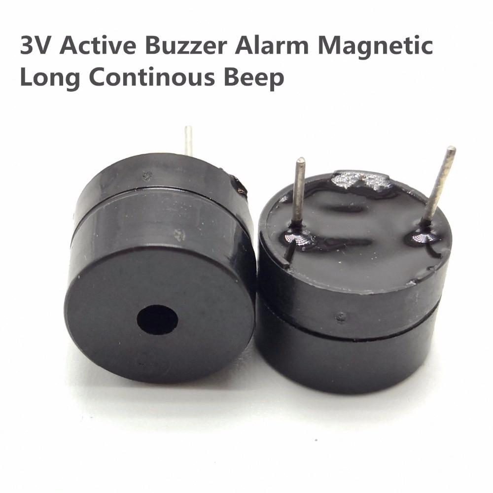 10pcs Original 3V Active Buzzer Alarm Magnetic Long Continous Beep Tone 12*9.5mm Sounder Speaker SOT Plastic Tube Length
