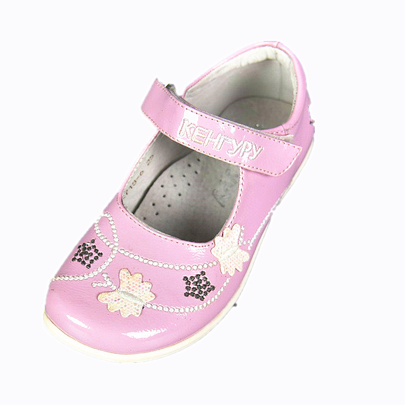 Free Shipping 1pair Girl Children Orthopedic Leather Shoes Baby single shoes Leisure Kids Sneakers