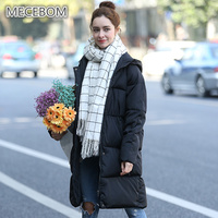 MECEBOM Women Winter Coat Jacket Warm Woman Parkas Female High Quality Quilting Cotton Coat 2017 New