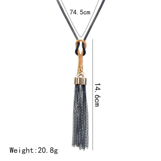 Long Tassel Necklace  3