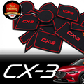 Car Cup Mat/Pad Car Accessories Gate Slot Pad door pad luminous Non-Slip Interior Door Pad/cup Mat for MAZDA CX-3