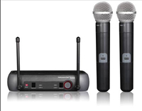 PGX 242 24 fixed frequency dual handheld transmitter karaoke party entertainment wireless microphone
