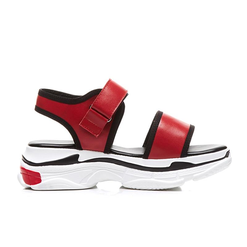 Solide Crochet Confortable Top rouge Véritable Sandales blanc Ribetrini Femme De Chaussures Neuf Et Cuir Boucle Flambant Décontracté En Qualité Noir D'été SzYpxZpwEq