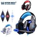Kotion each g2200 gaming fone de ouvido usb 7.1 surround stereo sistema rotativo vibração fone de ouvido fone de ouvido microfone mic levou usb