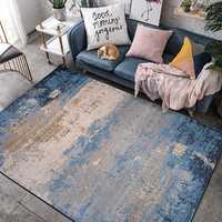Nordic Stil Bereich Teppiche Blau Design Kreative Weiche Große Teppiche Für Wohnzimmer Schlafzimmer Teppiche Hause Teppich Mode Tapete Boden matte