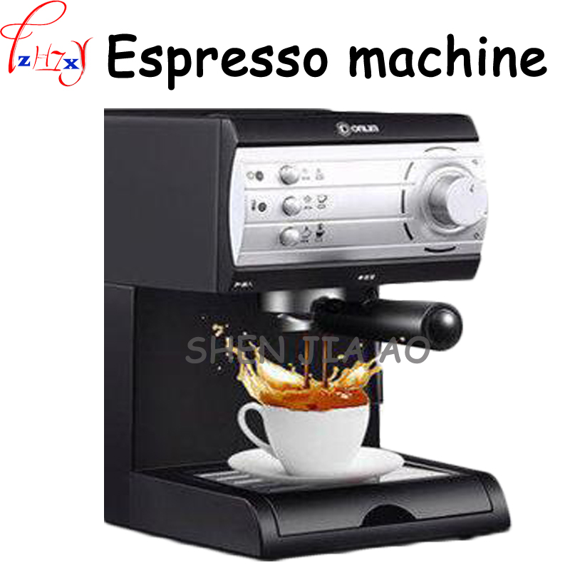1pc 110/220V Semi-automatic Italian coffee machine 20Bar high - pressure pump steam coffee machine pull flower coffee machine semi automatic italian coffee machine pump type coffee machine manual fancy coffee 220v 50hz 1100w 1pc