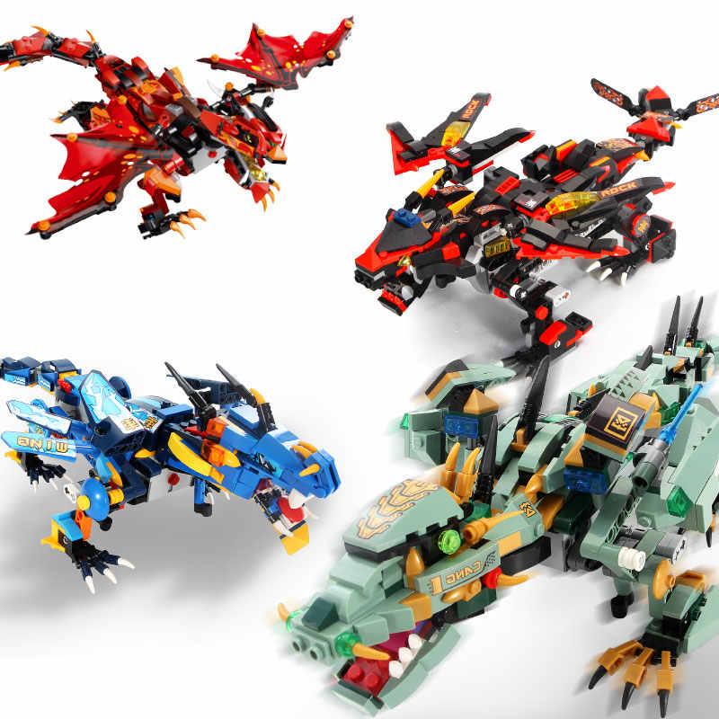 2.4G uzaktan radyo kontrol dinozor yapı taşları DIY ejderha Robot kök Ninjagoed oyuncaklar çocuklar çocuklar için uyumlu LegoED