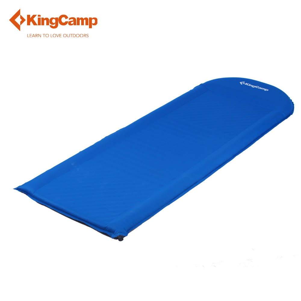 KingCamp Sleeping Pad Outdoor Camping Mats Comfort Plus Self-Inflating Camp Pad for Hiking Trekking Camping Mattress With Pillow цены онлайн