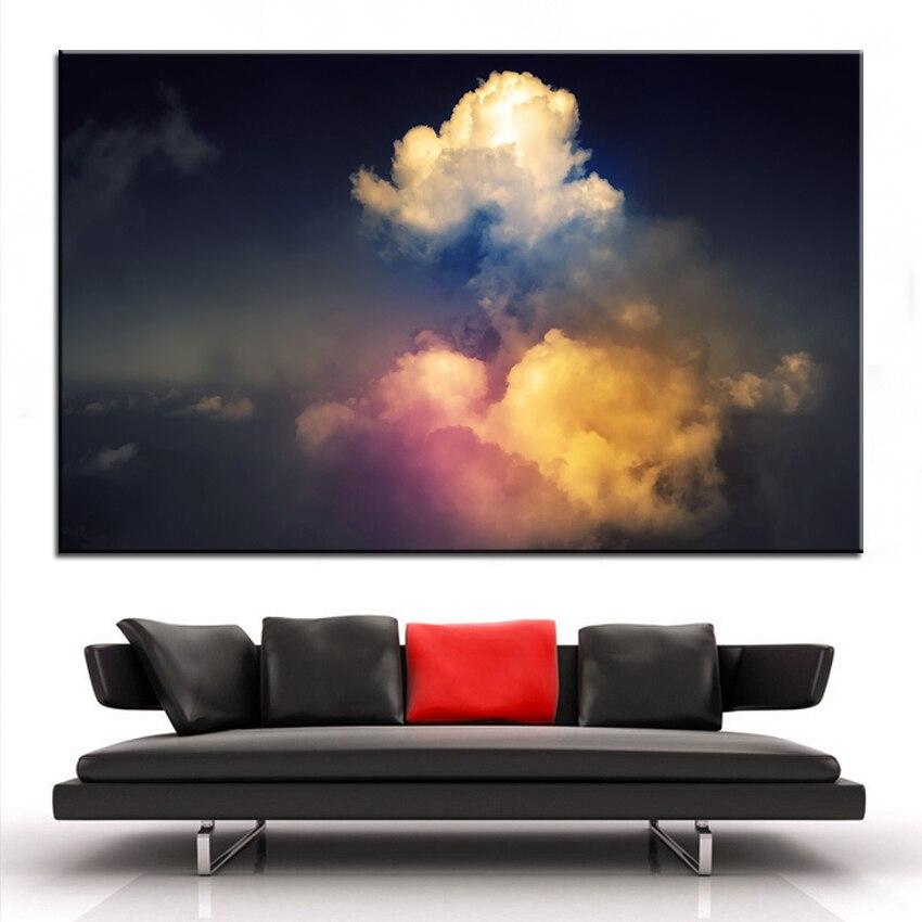 Boy Bask Ya Boya Kku St Bulutlar Duvar Tablosu Dekor Sanat Resmi