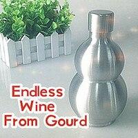 Magic Tricks Endless Wine from Gourd Lota Bottle Aluminum Close up Magic