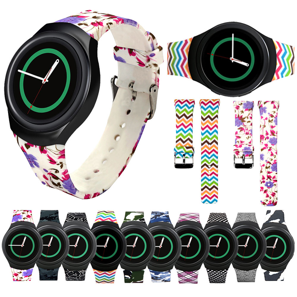 20mm Watch Accessories Wristband TPU Silicone Watch Band For Samsung Galaxy Gear S2 SM-R720 Adjustable Sport Wristband Strap