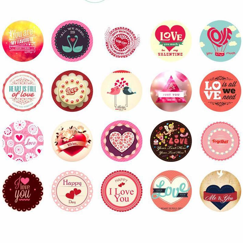 1boxabout 38pcs Mini Paper Stickers Love Heart Korean Diary Photo