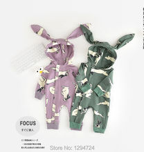 2017 SPRING SUMMER NEW BABY BOY CLOTHES BABY GIRL CLOTHES BABY ROMPERS RABBIT PATTERN CARTOON SWEDEN KIDS ROMPERS BABY CLOTHING
