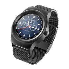 Роскошный многофункциональный Монитор Сердечного ритма Bluetooth Вызов Anti-Потерянный Наручные Часы Из Нержавеющей Стали Smart Watch Кожаные Спортивные часы