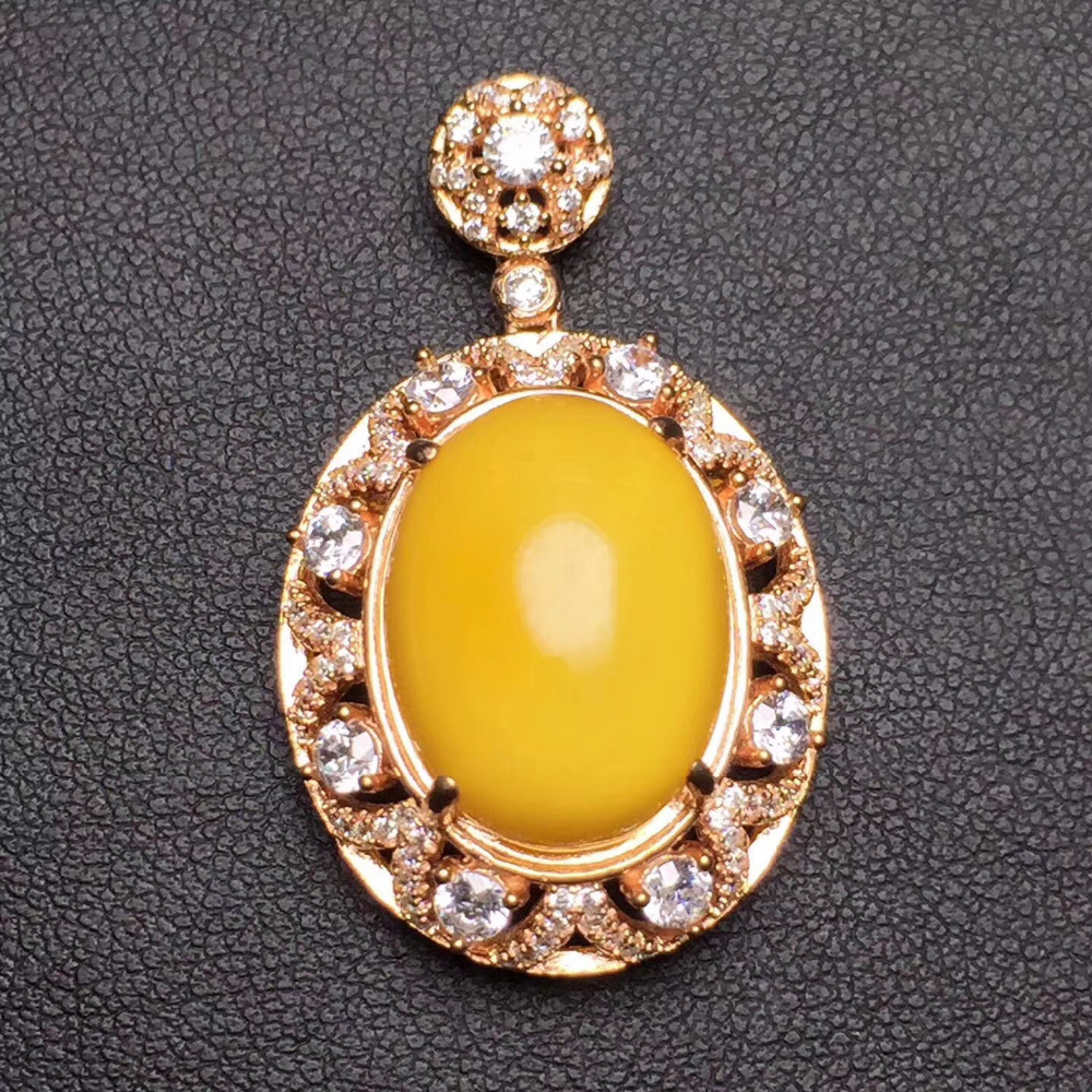Fine jewelry Real 925 Sterling silver s925 solid silver 100% Natural Yellow Amber beeswax unisex Pendant Necklace real amber necklace necklace 925 sterling silver natural real amber fine jewelry delivery of clavicular necklace
