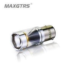 2x S25 1156 BA15S P21w 30 Вт CREE чип светодио дный 360 градусов блеск для вождения лампа авто тормозного Резервное копирование источников света белый/желтый