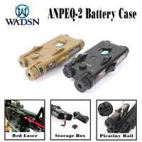Wadgn Airsoft PEQ2 táctico AN/PEQ-2 caja de batería láser rojo Ver para rieles de 20mm sin función Softair PEQ WEX426 caja de batería