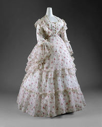 1870 s Periode Romantiek Modieuze jurk Theater Jurk
