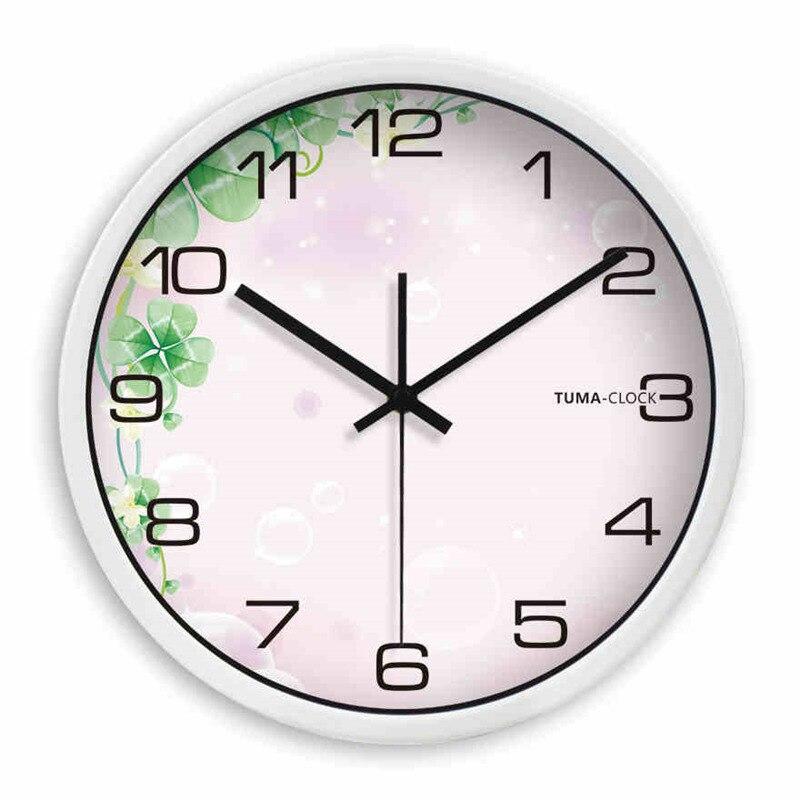 sala de estar del reloj de pared decoracin reloj despertador saati masa kloki metal silent cuarzo