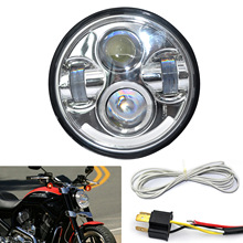 Car Professional 5.75″ LED Motorcycle Headlight Projector Daymaker DRL Lights For Harley 5-3/4″