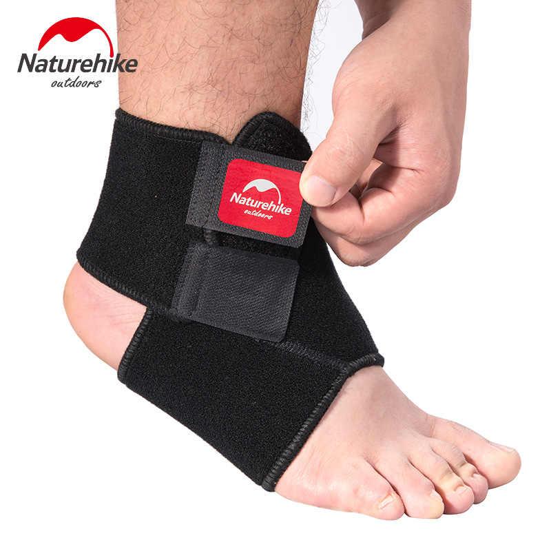 Naturehike 黒調節可能な足首のサポートパッド保護弾性ブレースボールゲームランニング安全フィットネス 1 個