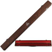 FreeShipping Cuesoul Brown MDF Structure Two Compartment Center Joint Billiard Pool Cue Case From Accessories Supplies