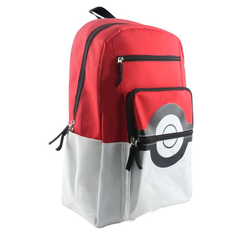 Cartoon Pikachu School Bags Backpack Children Schoolbags For Teenagers Boys&girls Pokemon  Go School Bag Kids Mochila