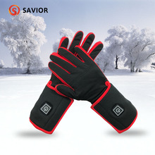 Savior lady heating gloves winter warm electric gloves outdoor sports riding ski feel good, touch screen sensitive 2018 savior safety health battery heating cap winter heating cap bicycle riding elderly