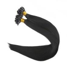 Full Shine 100% Remy Human Hair U Tip Hair Extensions 1g Per Strand 50g Per Package Pre bonded Extensions U Tip Hair Extensions
